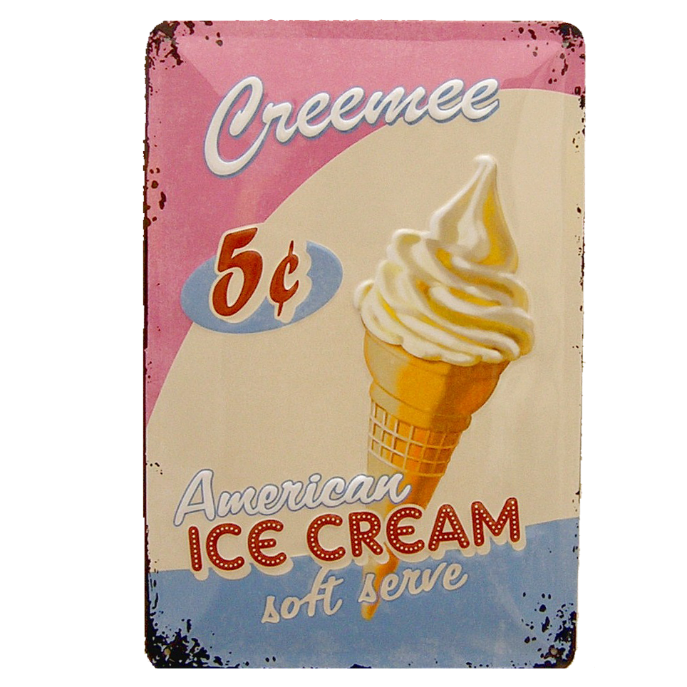 Cartel Publicitario American Ice Cream