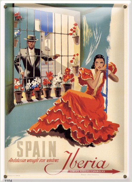 Postal Metálica Iberia Spain