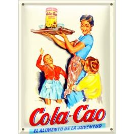 Postal Metálica Cola Cao