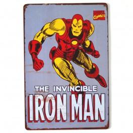 Chapa Metálica Iron Man