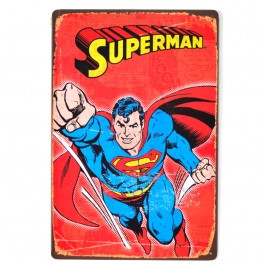 Chapa Metálica Superman Rojo