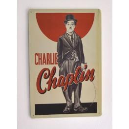 Cartel Metálico Charlie Chaplin