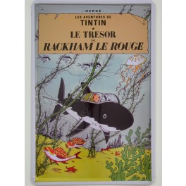 Cartel Metálico Tintín, el Tesoro de Rackham el Rojo