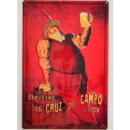 Cartel Publicitario Cerveza Cruzcampo