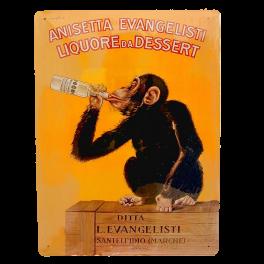 Cartel Publicitario Aniseta Evangelisti