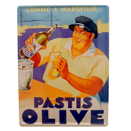 Cartel Publicitario Pastis olive