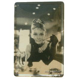 Cartel Metálico Audrey Hepburn