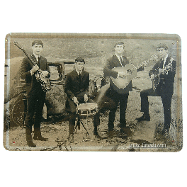 Cartel Metálico Beatles (grupo)