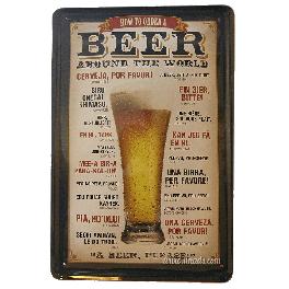 Cartel Metálico Beer