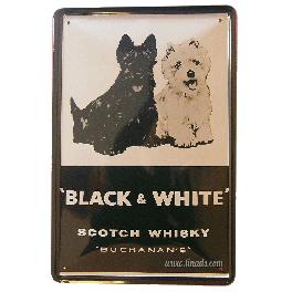 Cartel Publicitario Whiski Black&White
