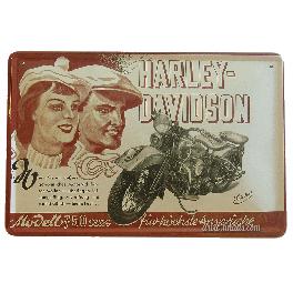 Cartel Publicitario Harley Davidson 750