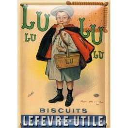 Postal Metálica Biscuits Lefevre Utile