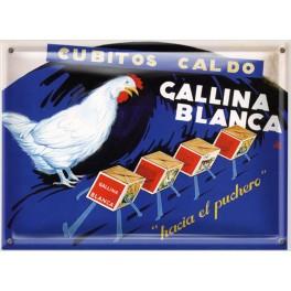 Postal Metálica Cubitos Caldo Gallina Blanca