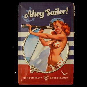 Cartel Publicitario Ahoy Saylor
