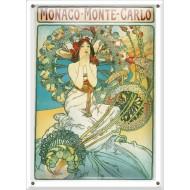 Postal Metálica Mónaco Monte Carlo