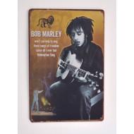 Cartel Metálico Bob Marley