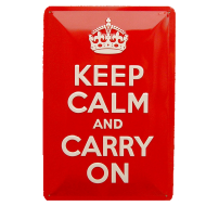 Cartel Publicitario Keep calm and carry on