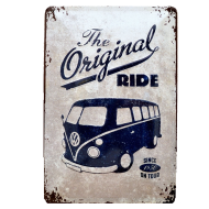 Chapa Metálica Volkswagen Bulli , The Original Ride