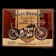 Cartel Publicitario Harley Panhead