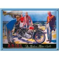 Postal Metálica Ariel Motorcycle