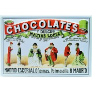 Cartel Publicitario Matias López , Chocolates y Dulces