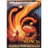 Postal Metálica Fallas Valencia 1947