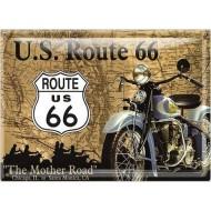 Postal Metálica Us Route 66