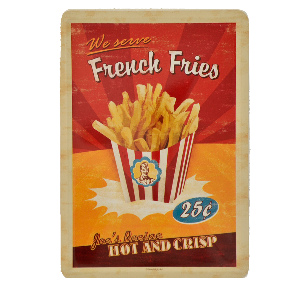Postal Metálica French Fries