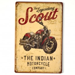 Chapa Metálica Indian Scout