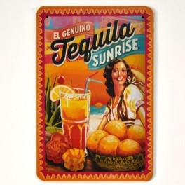 Chapa Metálica Tequila Sunrise
