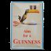 Cartel Publicitario Aim for a Guinness