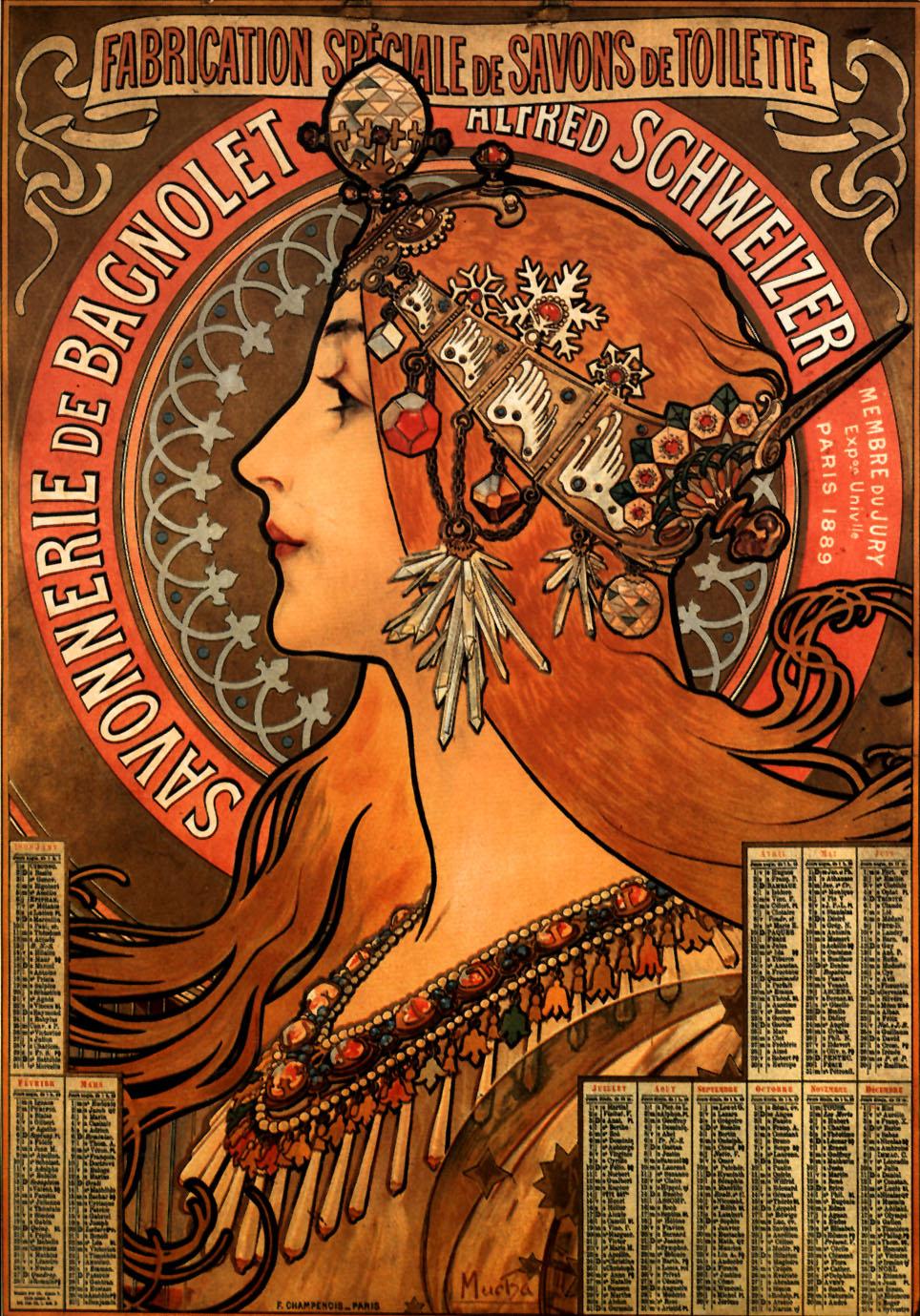 Alphonse Mucha   (1860-1939) . Padre del Art Nouveau