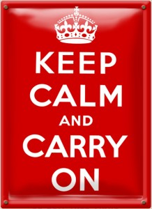 Posal Kepp CAlm and Carry On