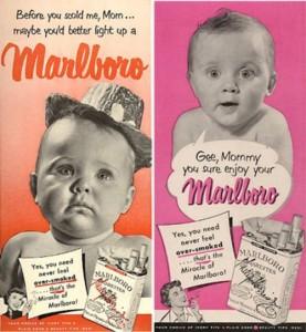 Carteles de publicidad de tabaco