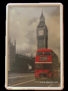 Cartel metálico de Londres