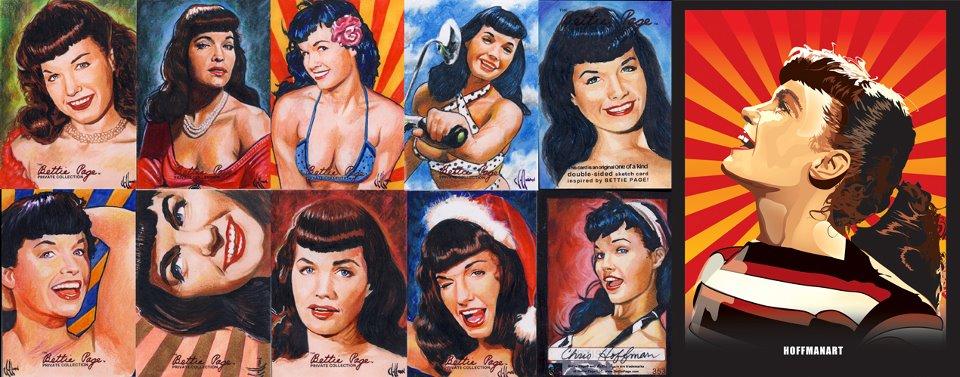 bettie page arte ilustraciones icónicas