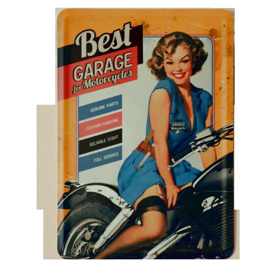 Postal Metalica Best Garage Amarillo