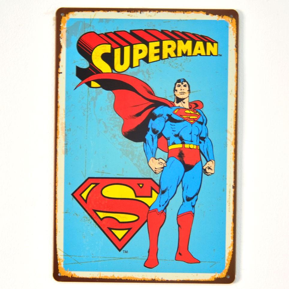 Chapa Metálica Superman Azul