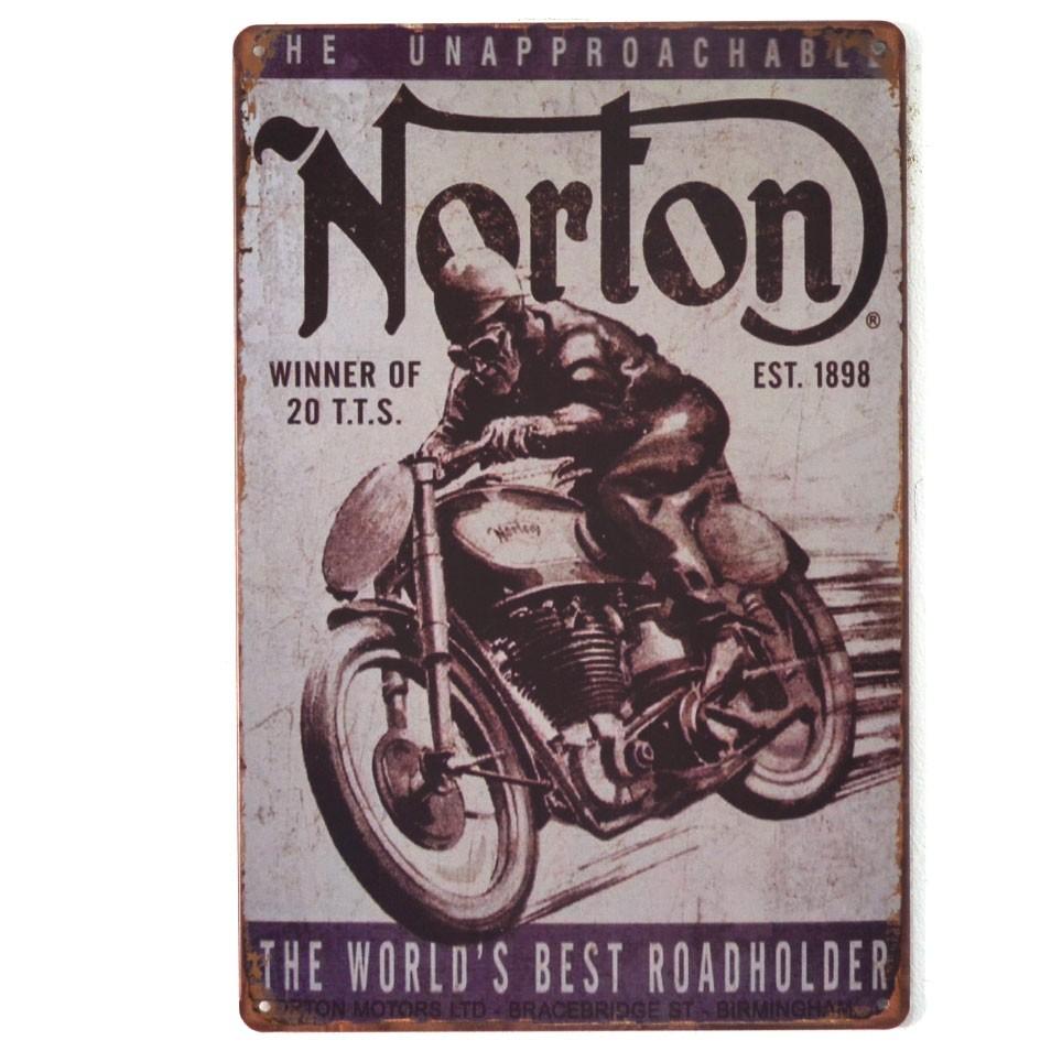 Chapa Metálica Norton 1898