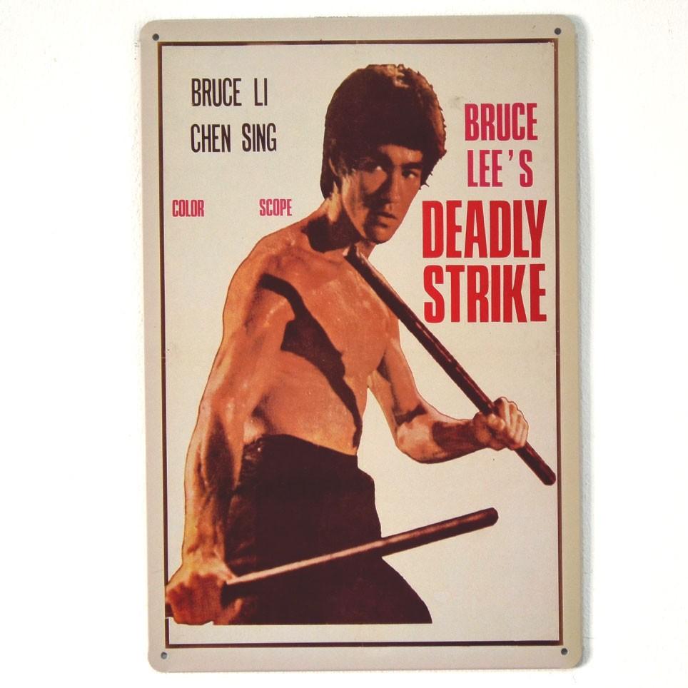Chapa Metálica Bruce Lee