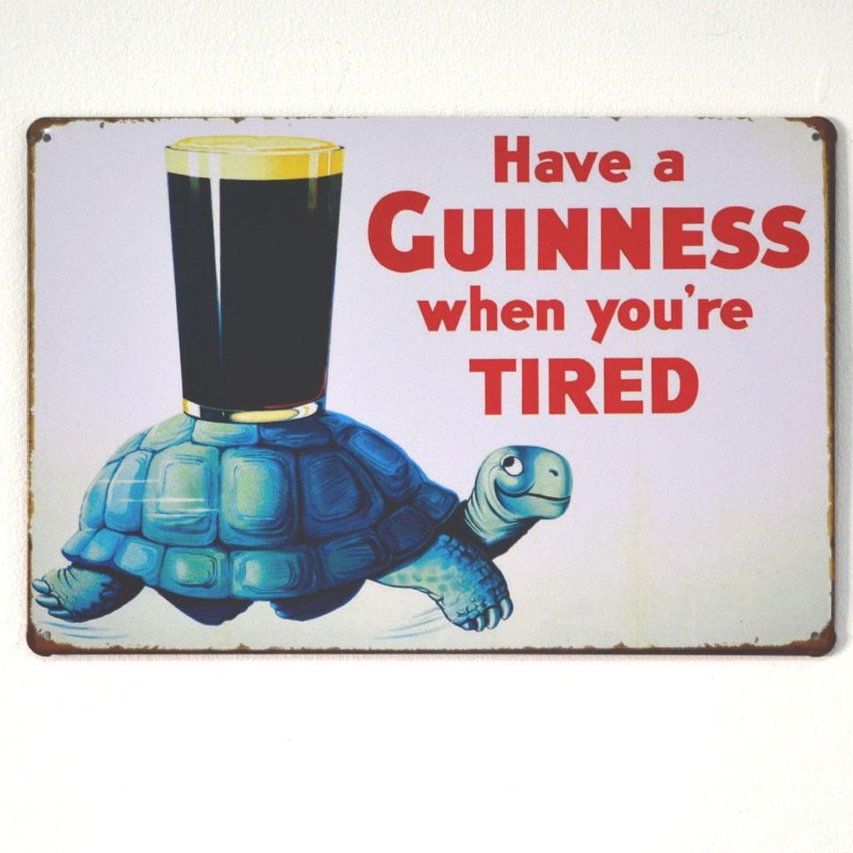 Chapa Metálica Guinness Tortuga