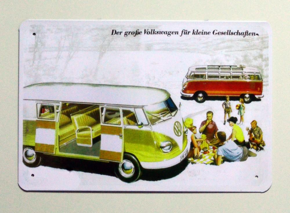 Cartel  Metálico Volkswagen Bus