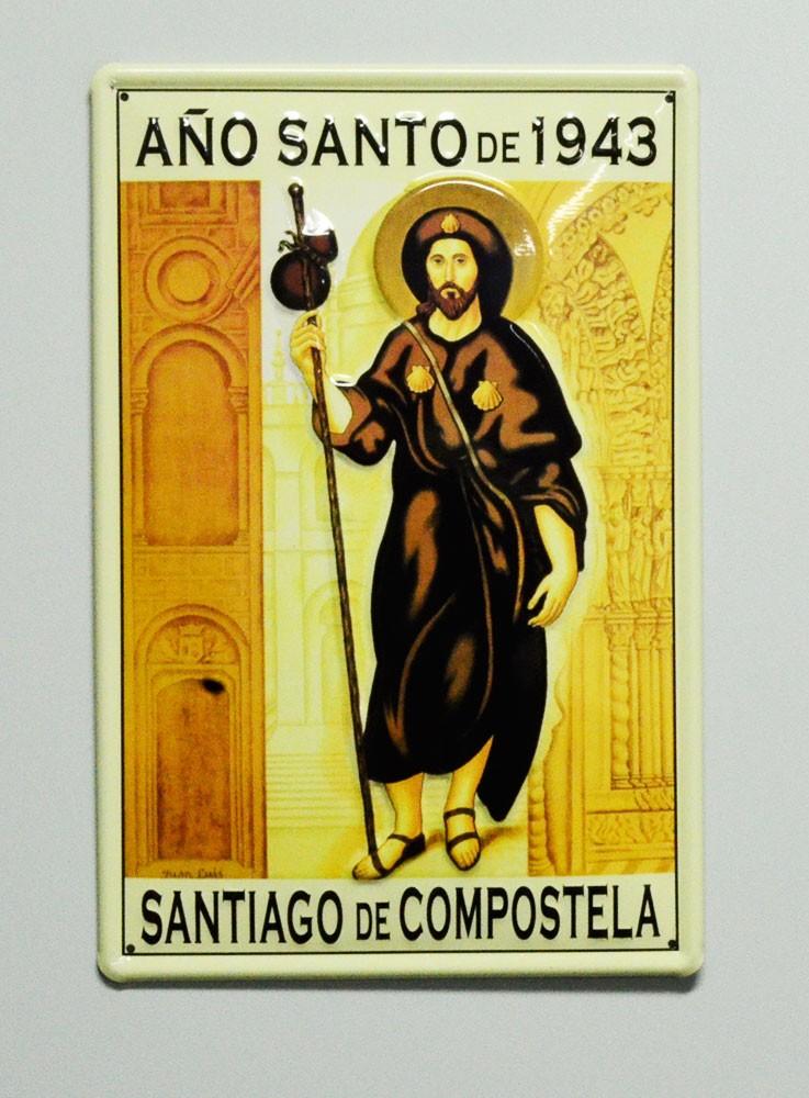 Cartel  Metálico Santiago de Compostela