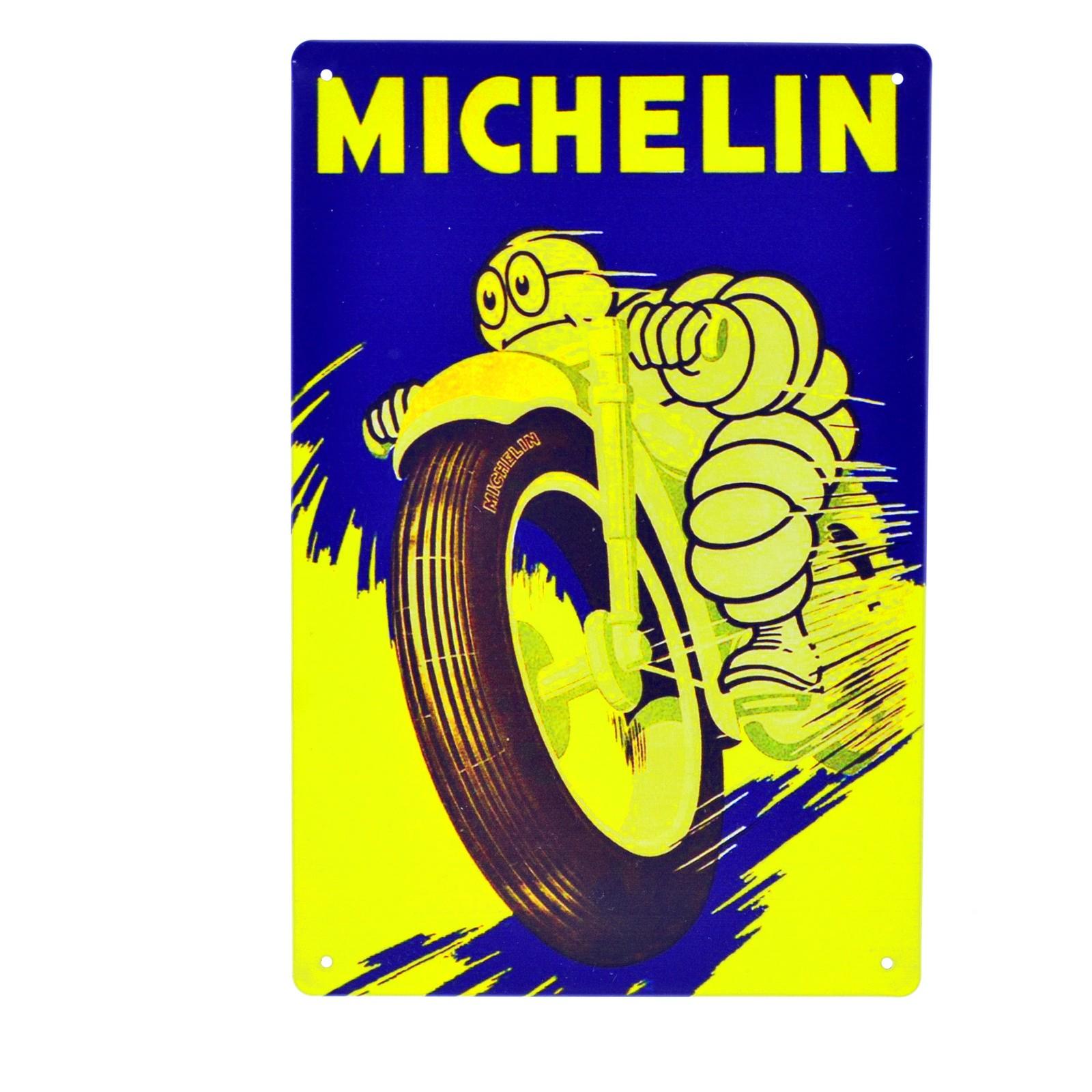 Cartel Metálico de Michelín Moto