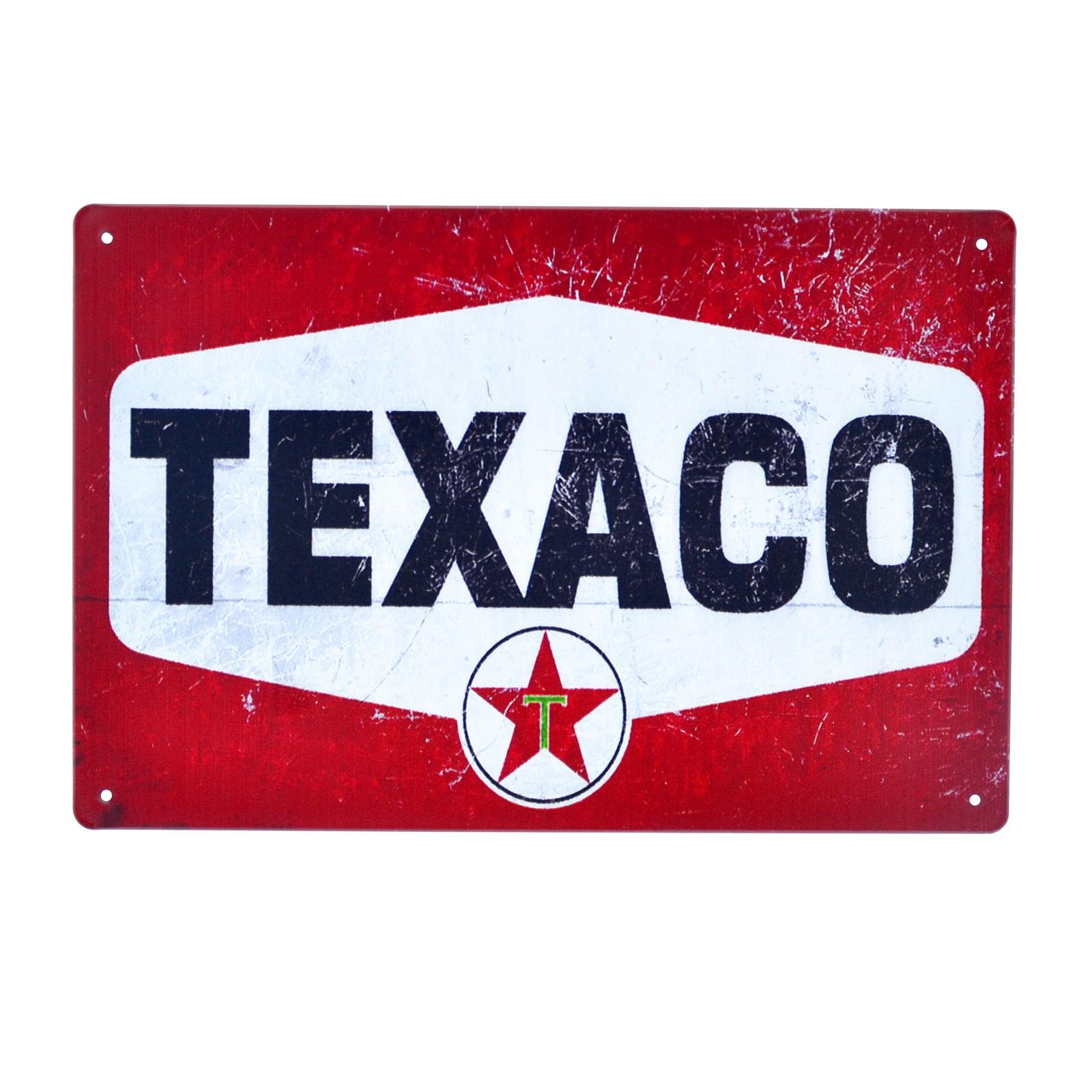 Cartel Metálico de Texaco