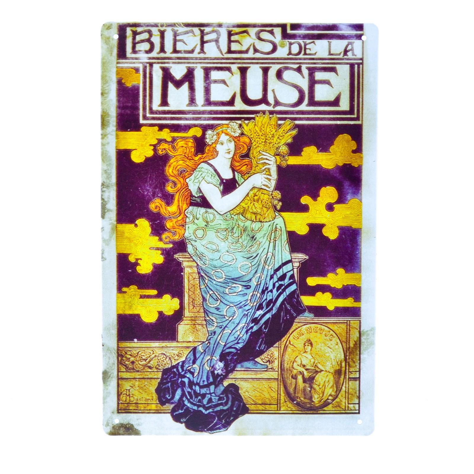 Cartel Metálico de Bieres de le Meuse