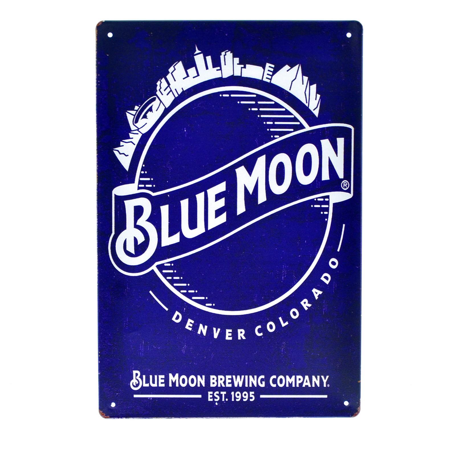 Cartel Metálico de Blue moon