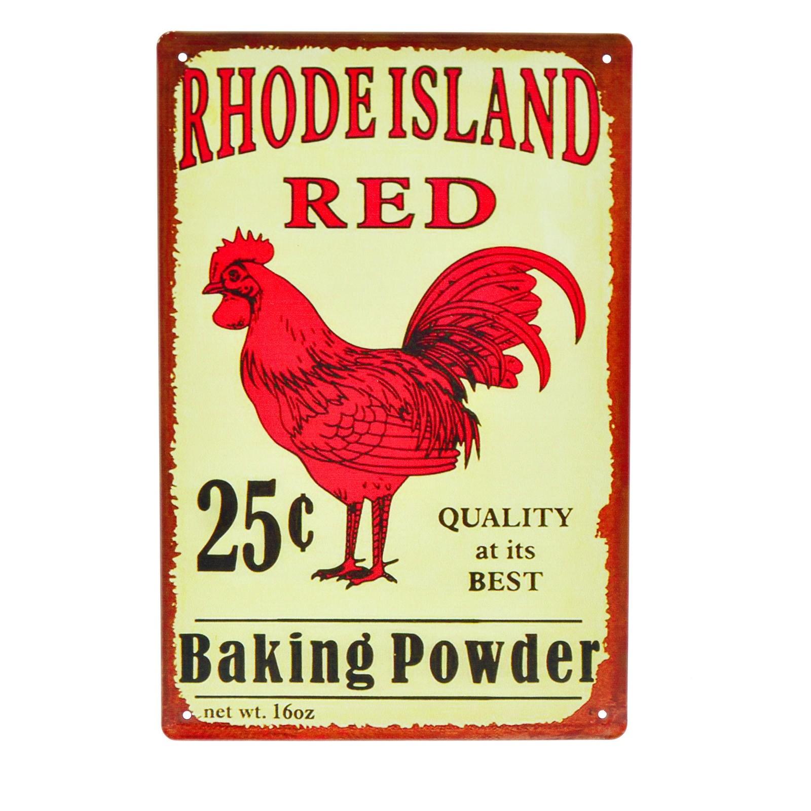 Cartel Metálico de Rhode Island Red
