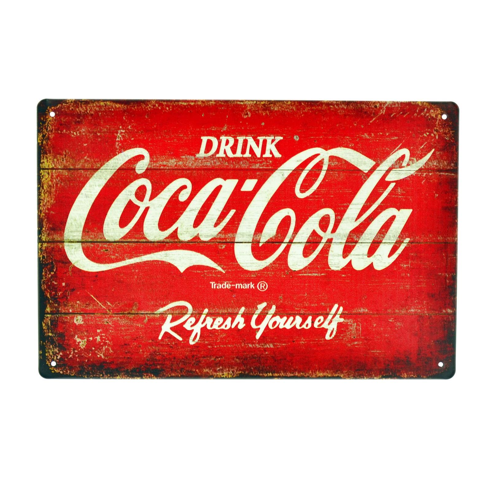 Cartel Metálico de Coca Cola (tablas)