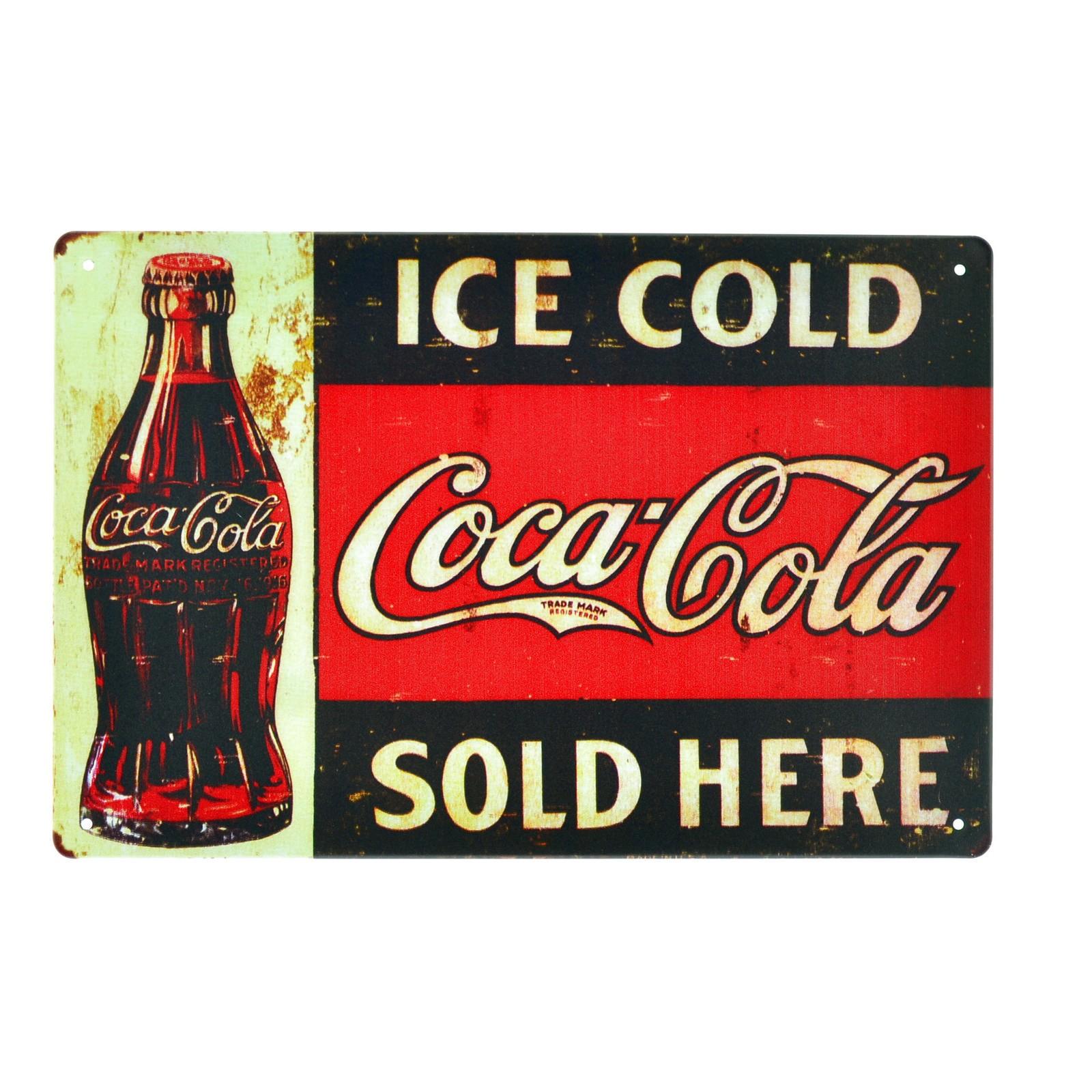Cartel Metálico de Coca Cola Ice Cold